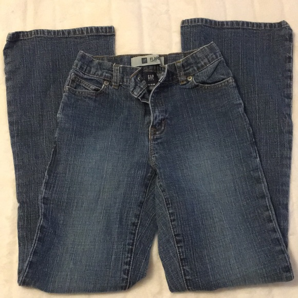 New Gap Kids Girls Denim Bootcut Stretch Jeans Slim Leg Adjustable Waist 14 Reg